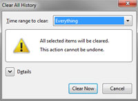 Clear History - Firefox