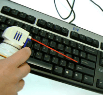 Compressed Air Can and Keyboard