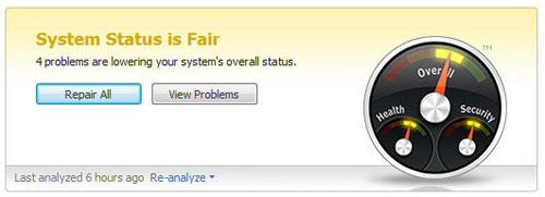 Registry scanner system status