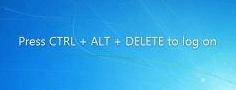 Windows CTRL + ALT + DELETE login